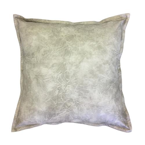 Madras Link Grey Boston Faux Leather Cushion