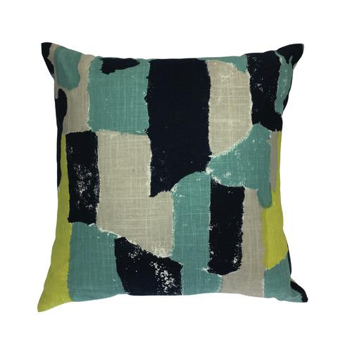 Madras Link Abstract Bergen Linen-Blend Cushion