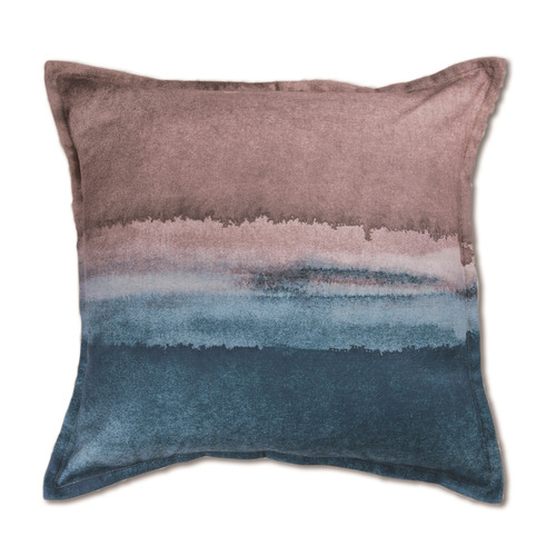 Madras Link Gradient Horizon Linen-Blend Cushion