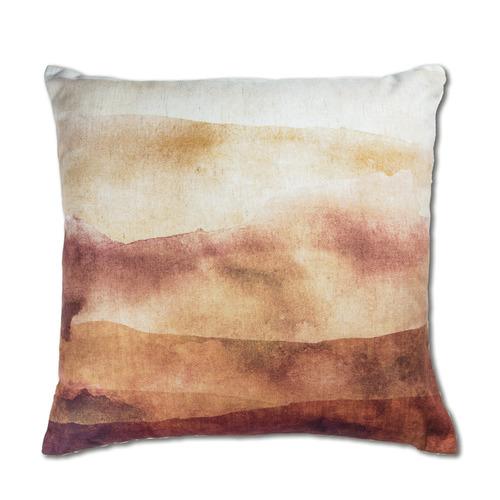 Madras Link Amber Gradient Sutherland Linen-Blend Cushion