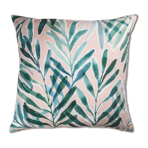 Madras Link Blush & Turquoise Palm Springs Cushion