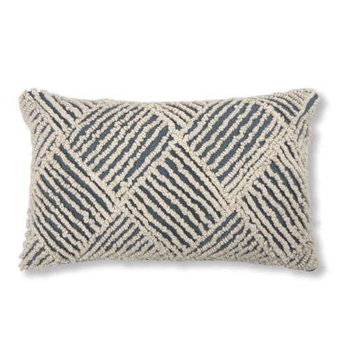 Madras Link Jervis White Embroidered Cotton Breakfast Cushion