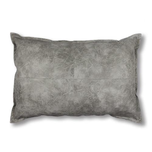 Madras Link Grey Boston Lumbar Breakfast Faux Leather Cushion