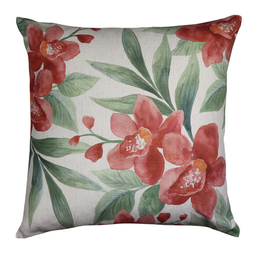 Madras Link Rust Orchid Linen-Blend Cushion