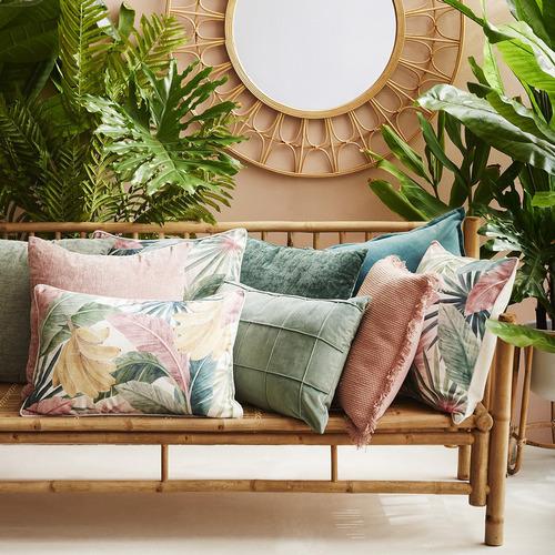 Madras Link Pink Costa Rica Linen-Blend Cushion