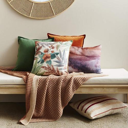 Madras Link Succulent Square Velvet Cushion