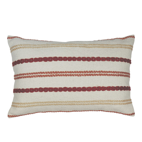 Madras Link Stripe Nelson Stitched Breakfast Cotton Cushion