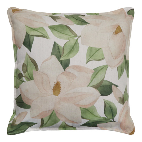 Madras Link Magnolia Linen-Blend Cushion