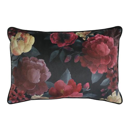 Floral Eclipse Velvet Breakfast Cushion