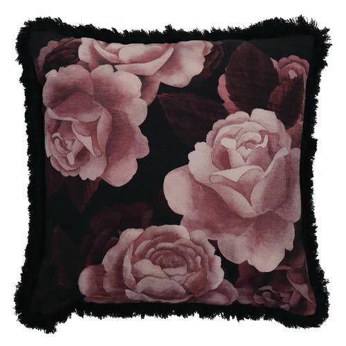 Midnight Rose Cushion