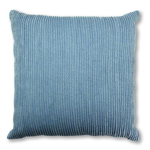 Madras Link Dark Blue Gisborne Cotton Cushion