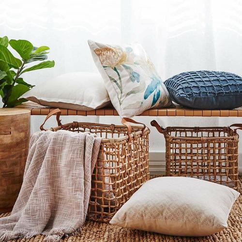 Madras Link Summer Garden Linen-Blend Cushion