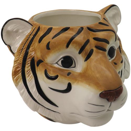 Madras Link Tiger Head Ceramic Planter