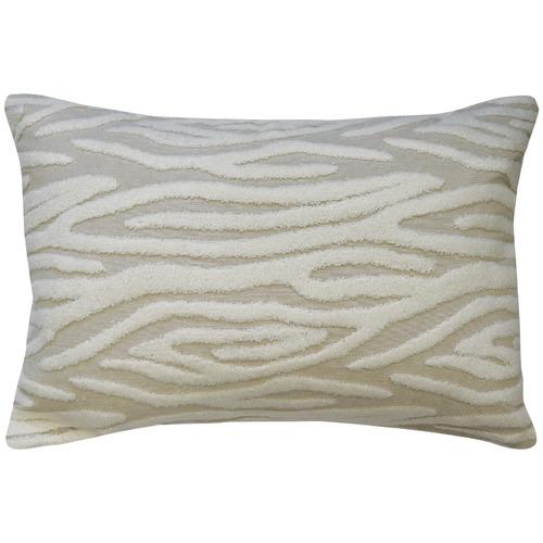 Madras Link Neutral Embroidered Zebra Cotton-Blend Cushion