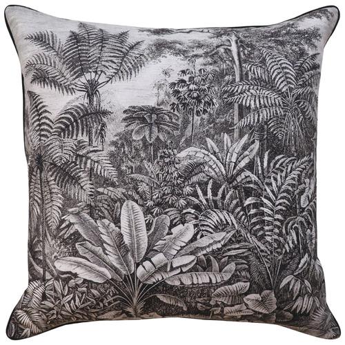 Madras Link Grey Eden Cotton-Blend Cushion