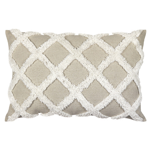 Natural Check Avoca Linen Cushion