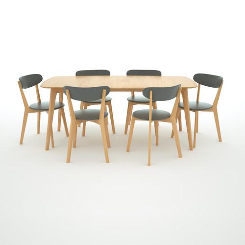 Estudio Furniture Oslo Large 7 Pce Dining Set