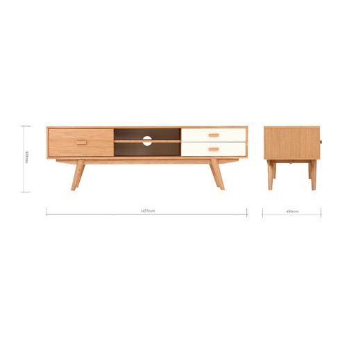 Estudio Furniture Sofia 3 Drawer Entertainment Unit