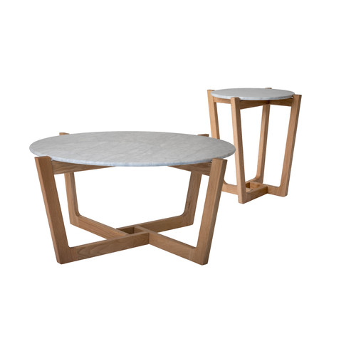Monerey Natural Leg Coffee and Side Table