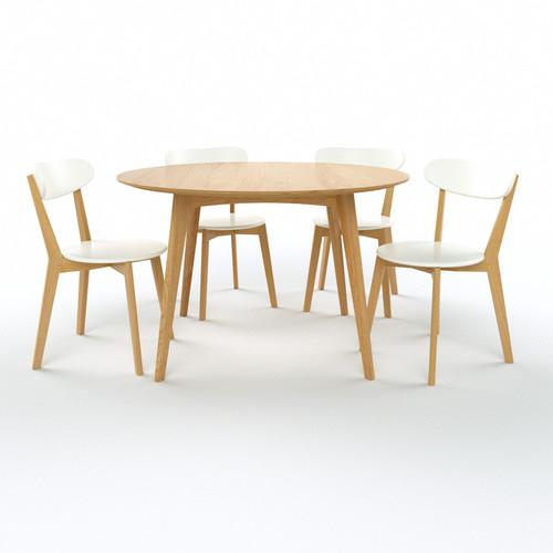 Oslo Oak Round 5 Pce Dining Set