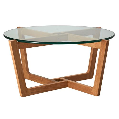 Estudio Furniture Monterey Glass & Oak Coffee Table