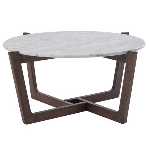 White Marble Monterey Coffee Table