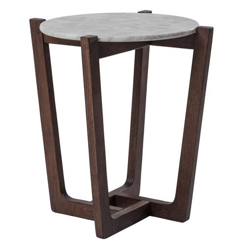 Estudio Furniture White Marble Monterey Side Table