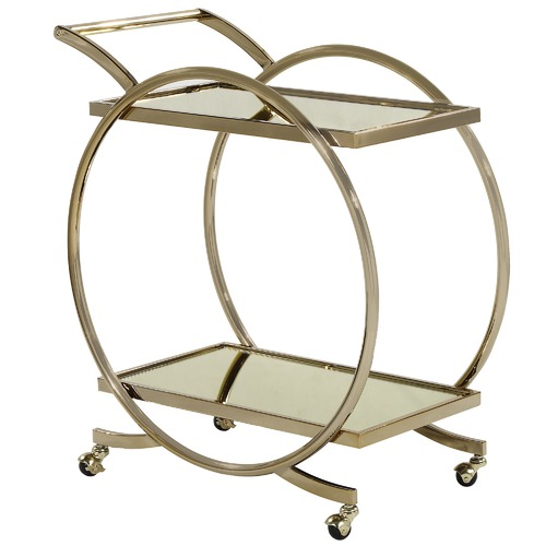 Gold Janner Gatsby Bar Cart