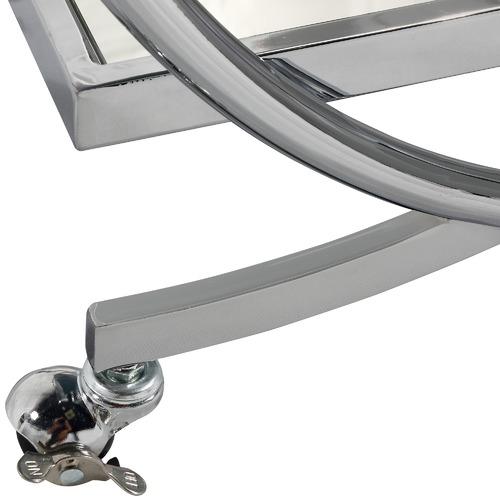 Estudio Furniture Silver Chicago Bar Cart