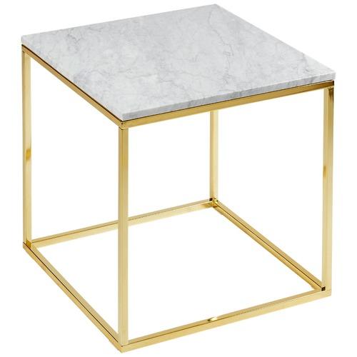 Estudio Furniture Como White Marble Side Table