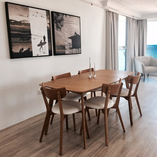 Estudio Furniture White Seat Bjorn Dining Chairs