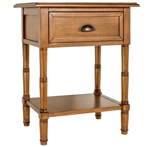 Estudio Furniture Antique Brown Kensington Bedside Table