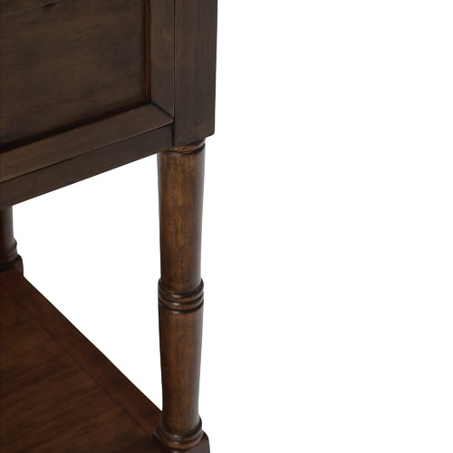 Estudio Furniture Antique Walnut Kensington Bedside Table