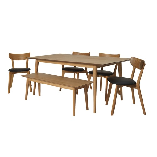 Pleasing 6 Piece Camden Oak Dining Set Complete Home Design Collection Barbaintelli Responsecom