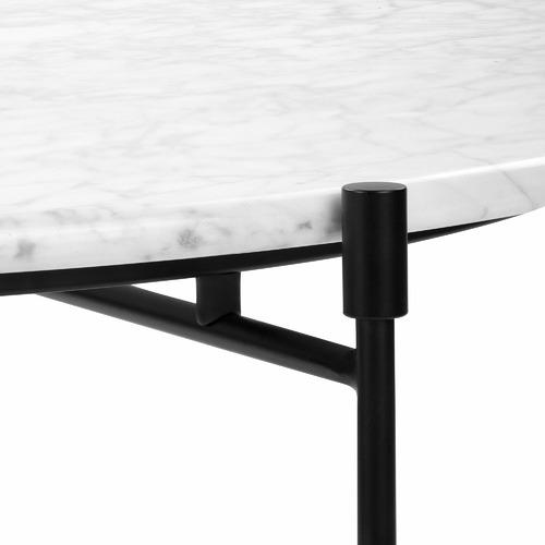 White Tuscany Italian Carrara Marble Coffee Table