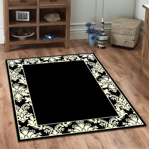 Viva Modern Black White Oriental Rug Temple Amp Webster