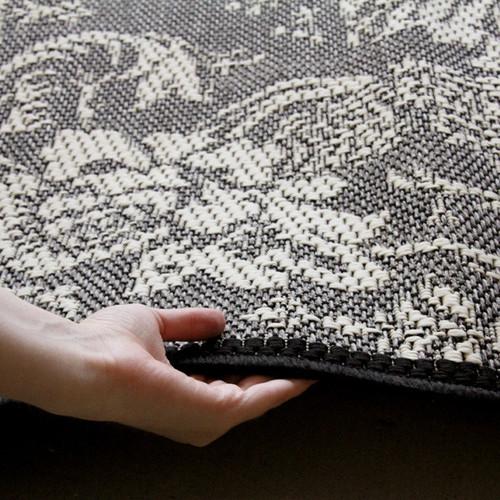 Indoor Outdoor Lace Design Rug Grey Temple Amp Webster