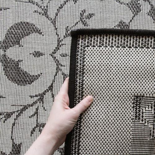 Network Rugs Indoor Outdoor Border Design Border Rug Grey