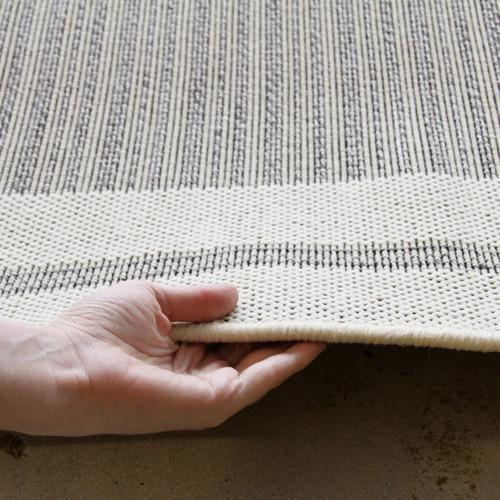 Network Rugs Indoor Outdoor Border Design Rug Cream