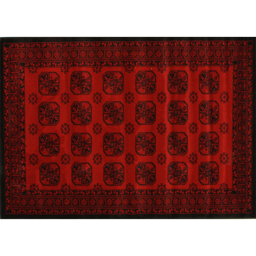 Network Samatra Traditional Persian Style Red Black Rug