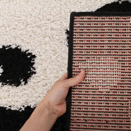 Network Rugs Piccolo Spring Black/White Shag Rug