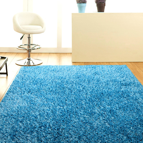 Sky Blue Shag Tufted Rug Temple Amp Webster