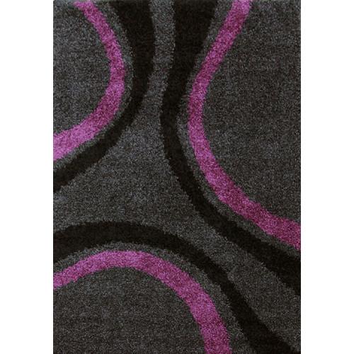Network Piccolo Casa Charcoal Purple Shag Rug Amp Reviews