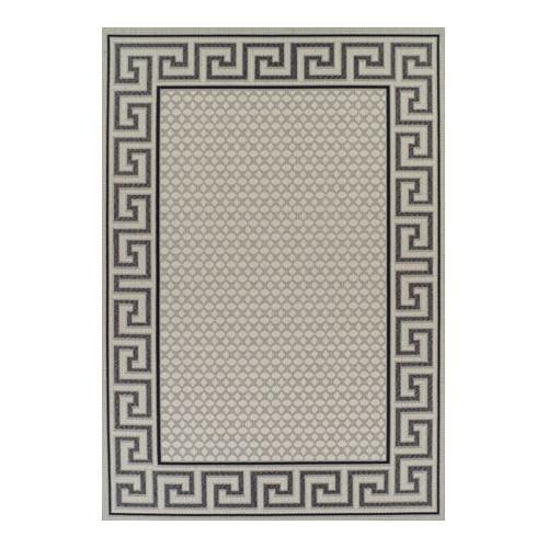 Network indoor outdoor greek key design rug cream for Indoor network design