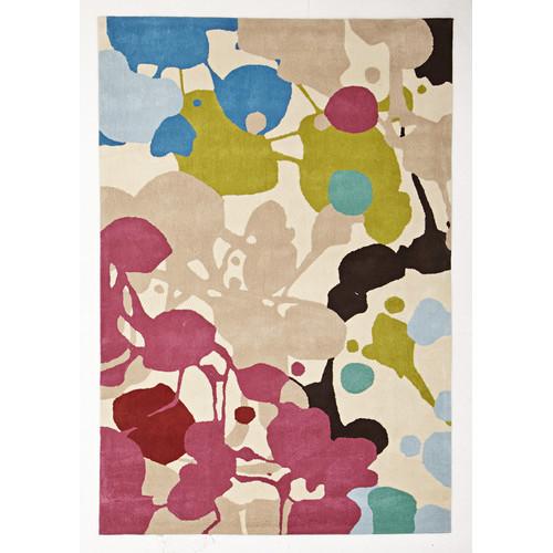 Paint Splatter Brown Tufted Rug