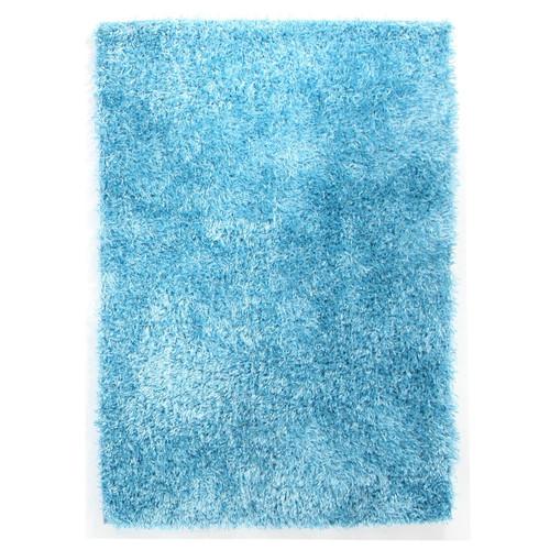 sky blue shag tufted rug | temple & webster