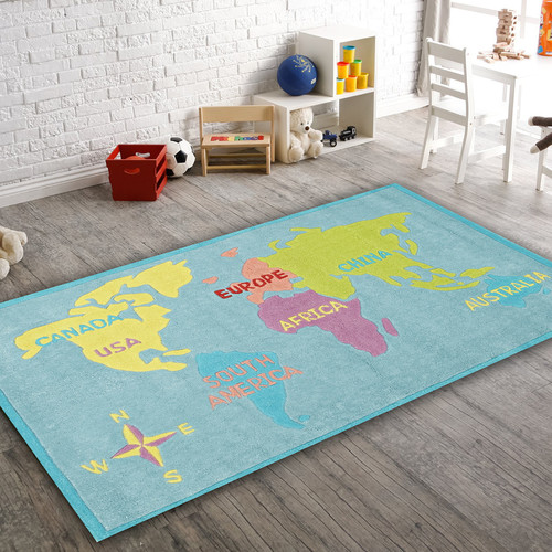 World Map Baby Rug: Temple & Webster