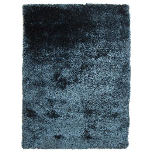 Blue Plush Shimmering Shag Rug