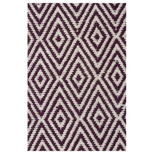 Network Rugs Purple Diamond Modern Flatweave Rug