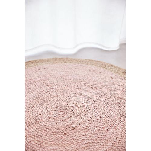 round pink rug. Network Rugs Round Jute Natural Rug Pink